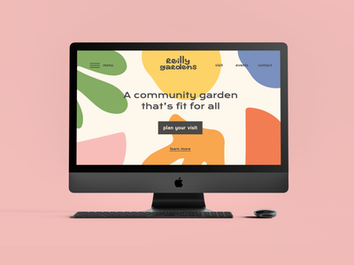 Public park website design typography branding web design design