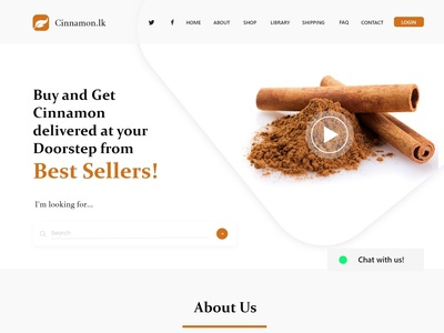 Cinamon Auction Landing Page