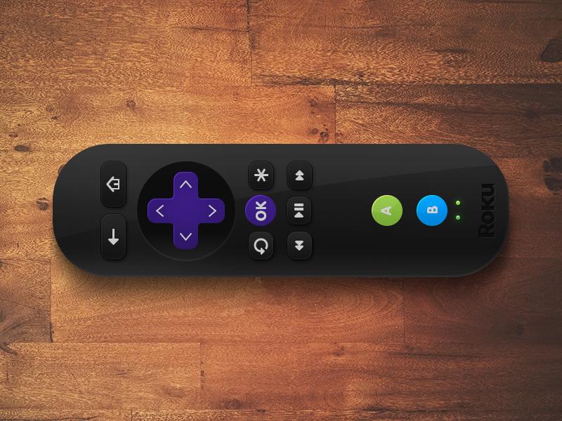 Roku Remote h1 studios roku remote wood black plastic rubber buttons plastic buttons shiny