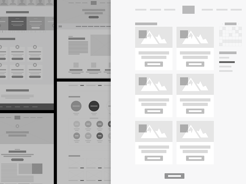 Wireframe Styling Exploration wireframes ui website design ux structure layout