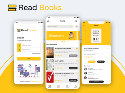 E-book  Book Reading App online books reading read books book reading app education books ui book app e-book