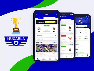 Sport App Cricket App UI Concept latest app ui winning app latest ui design cricket app maches app design app ui design app ui sports app cricket ui