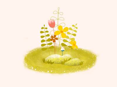 little flower flower illustration cute
