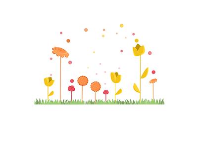 calm conversation flower weeklywarmup illustration