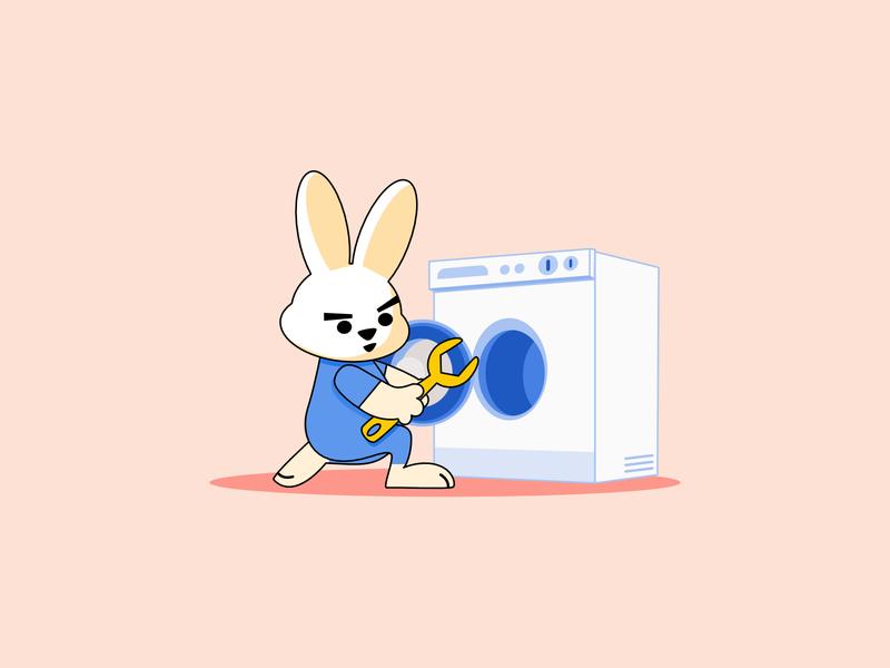 repairman rabbit repairman rabbit illustration
