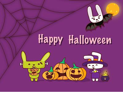 Happy Halloween character halloween rabbits