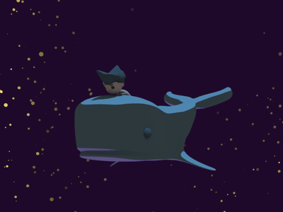 Whale and boy 3d