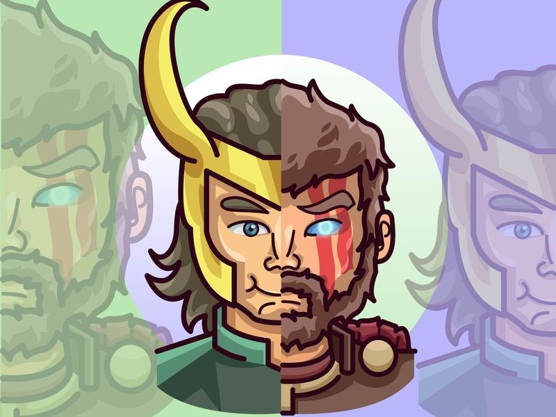 Thor x Loki by Amru Kun on Dribbble