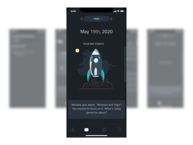 Daily planner concept screen mobile design mobile ui mobile app minimal illustration ui flat design app