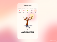 Mood Forrest Concept mobile ui mobile design mobile app illustration ui flat design app trees emotional design mood emotions tree