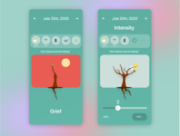 Mind forest slider trees animation emotions casestudy interaction design user experience ux design ux ui ui design app