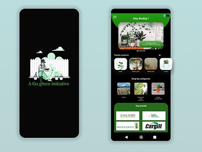 Agriculture based E-commerce simple minimal app design simple clean interface app flat ux ui concept design