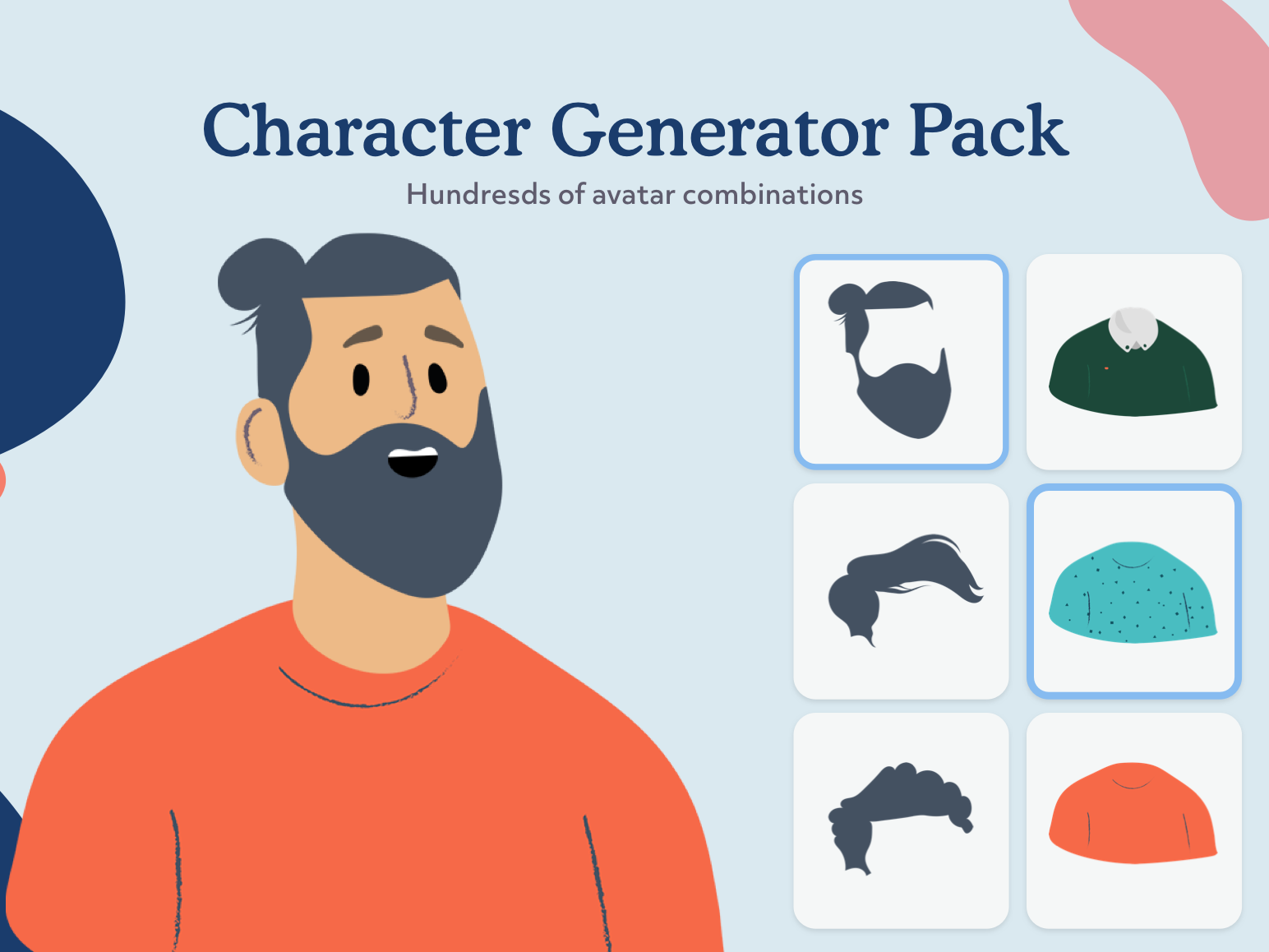Avatar Character Male Generator PSD by Craftrick on Dribbble