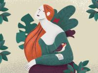 Ophelia Brushes Illustration