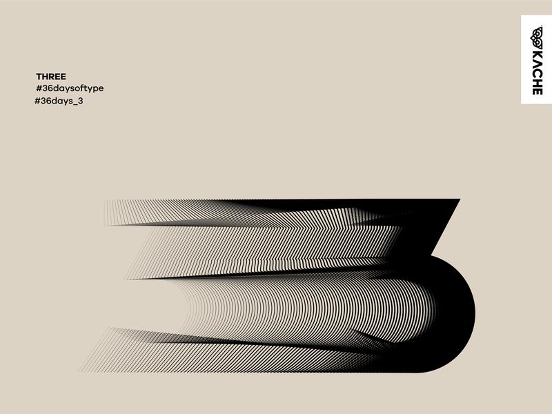 Three - 3 type type art typedesign branding typography design