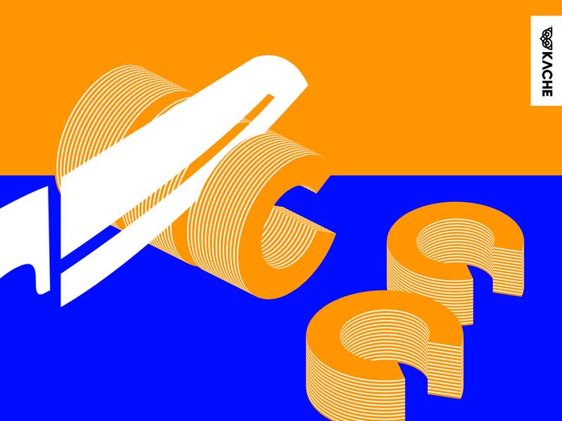 Type Cuts - Letter C kache illustration vectorart lettering experimental typography poster art direction graphic design type art type typogaphy