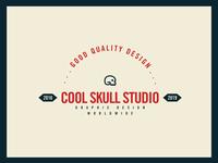 Vintage Cool Skull Studio Logo
