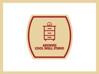 """""""Archives - Cool Skull Studio"""" Logo"""