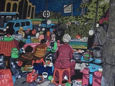 Street Market in Java Color Work