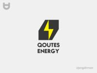 Quotes Energy Logo vector business brand logo design flat design modern minimal logo branding