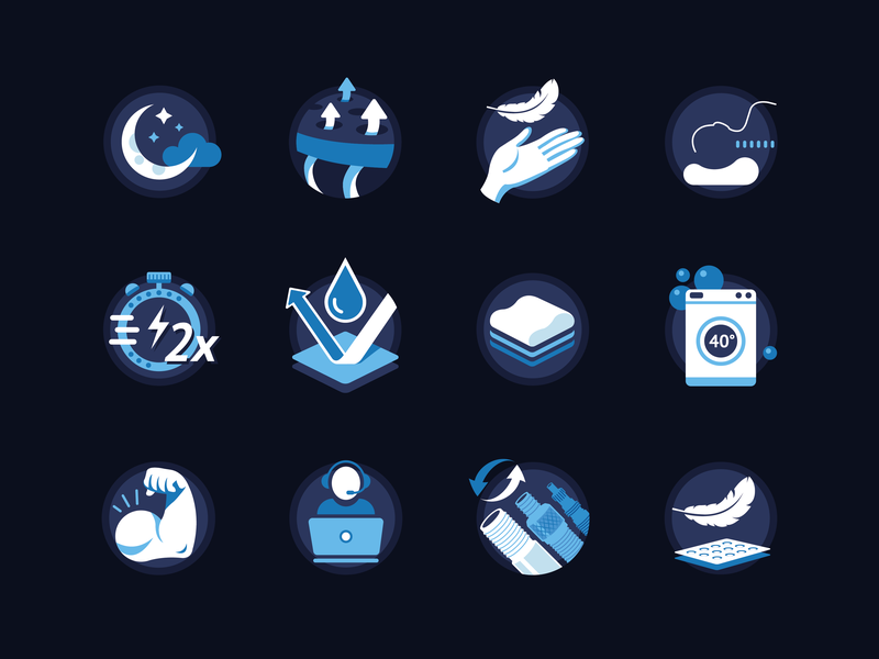 Icon Set for Casimum Products logo visual style guide iconography website packaging design illustration identitty icon icons branding icondesign