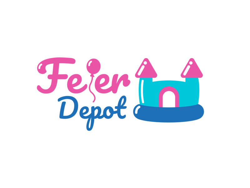 Feier Depot Logo blue logo pink blue logo pink logo logo design logo 2d logotype typography logodesign branding ui design vector