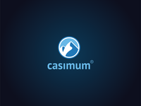 Casimum Logo balance power harmony male logo pillow blue logo darkblue blue logo 2d pillow brand mountain logo mountain logodesigner logodesign logo illustration design branding icondesign vector