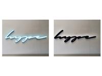 Front & back lit signage 3D