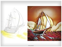 Ship Journey - Illustration