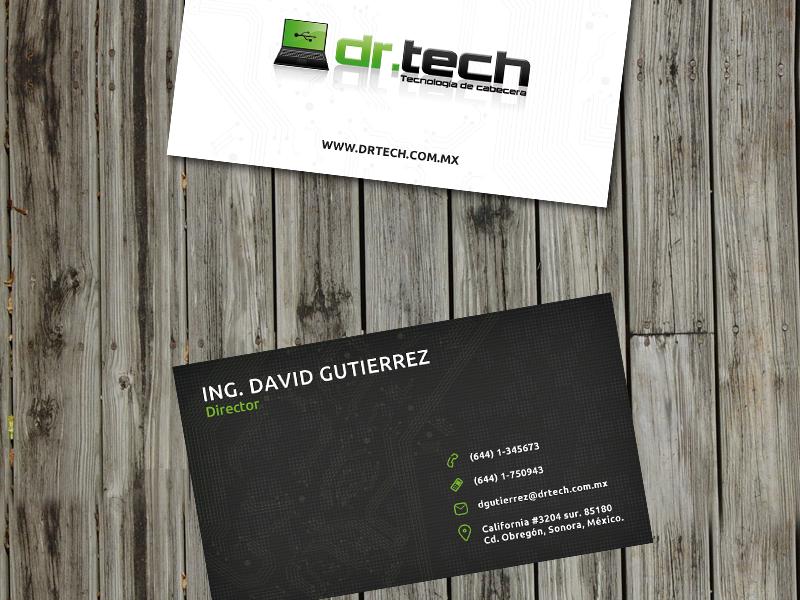 Drtech Business Cards Montadas business card