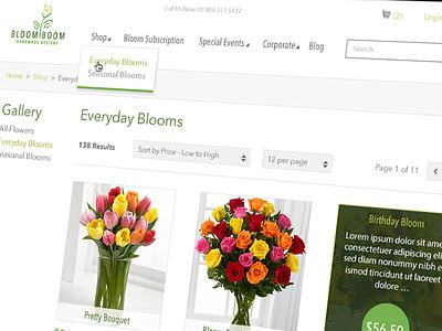 Bloom Boom flowers design web ecommerce