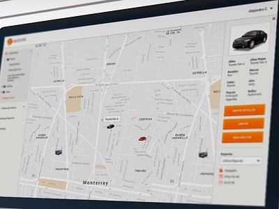 uLocate - Car Location ux ui application web location car