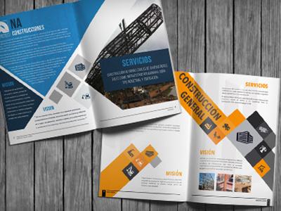 Brochures management construction brochures