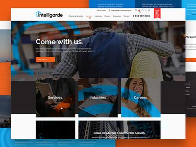 Website for Private Security Firm canada security corporate wordpress uiux ux design ui design web design website