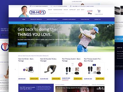 E-Commerce for Household Health Brand canada toronto retail care health magento e-commerce homepage uiux website web design