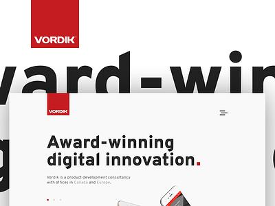 Sneak Peak at the New Vordik toronto agency interactive homepage uiux website web design