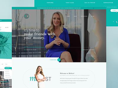 Website for Financial Coaching Business canada toronto custom money finance fintech platform uiux website web design