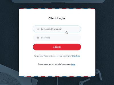 Login Form vordik canada toronto form login dashboard postal mail uiux website web design