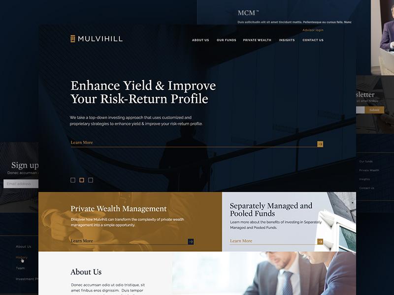 Private Wealth Management Firm vordik canada toronto finance wealth homepage uiux website web design