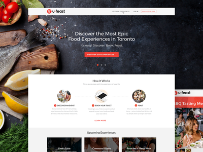 Website for Experiential Food Startup vordik canada toronto vancouver culinary feast food startup homepage uiux website web design