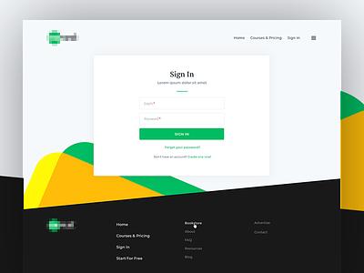 Login Page for Interactive Platform vordik canada toronto app platform fields form login sign in uiux website web design