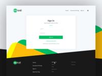 Login Page for Interactive Platform