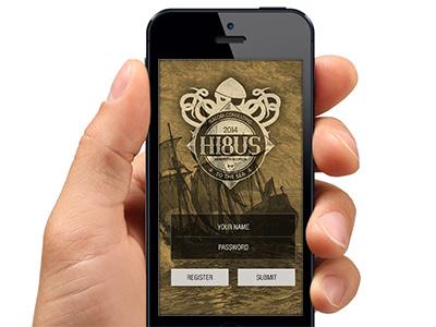 Splash + Landing screen for our company trip app