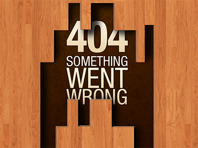 404 Page for a Home Improvement site 404 web mobile
