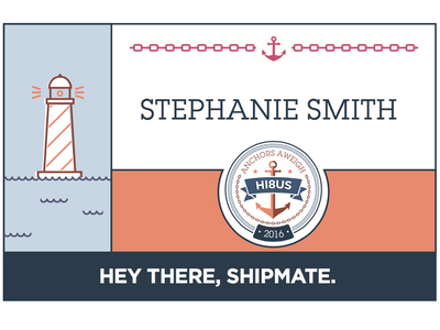 Event Nametags nautical name tags