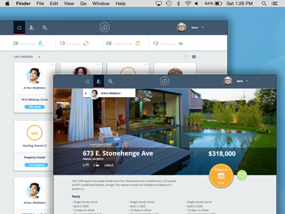 Real Estate Web site material good times desktop real estate