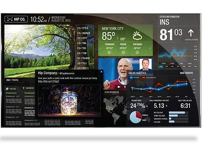 Interactive Screen Display data ui monitor