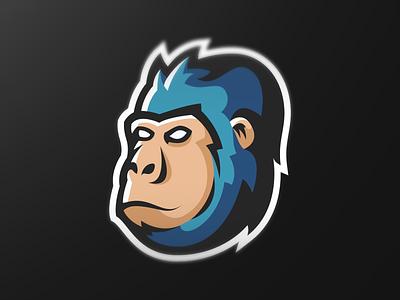 "Mascot logo ""Blue Gorilla"" designer affinitydesigner affinity blue gorilla sport logo gaming logo esport logo mascot logo vector logo design illustration"