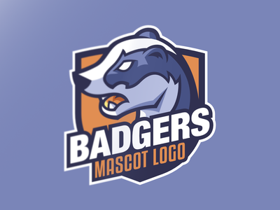 "Mascot logo ""Badger"""
