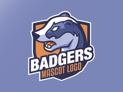 """Mascot logo """"Badger"""" rework animal badger orange logo mascot logo gaming logo esport logo blue designer vector illustration design affinitydesigner affinity"""